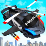 [APK] Flying Police Helicopter Car Transform Robot Games 30 (MOD Unlimited Money)