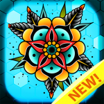 [APK] Tattoo color by number : Adult coloring book art 1.4 (MOD Unlimited Money)