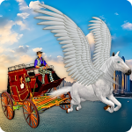 [APK] Flying Horse Taxi City Transport: Horse Games 2020 2. 6 (MOD Unlimited Money)