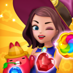 Jewel Witch Best Funny Three Match Puzzle Game  1.10.0 (MOD Unlimited Money)