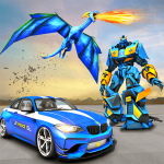 [APK] US Police Transform Robot Car Fire Dragon Fight 2.7 (MOD Unlimited Money)