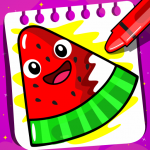 [APK] Fruits Coloring book & Food Drawing book Kids Free 1.4 (MOD Unlimited Money)