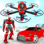 [APK] Drone Robot Car Transforming Game– Car Robot Games 1.1 (MOD Unlimited Money)