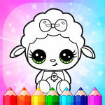 Flower Magic Color-kids coloring book with animals  3.9 (MOD Unlimited Money)