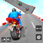 Police Bike Stunt Games: Mega Ramp Stunts Game  1.3 (MOD Unlimited Money)