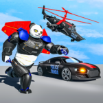 [APK] Flying Police Panda Robot Game: Robot Car Game 1.0.5 (MOD Unlimited Money)