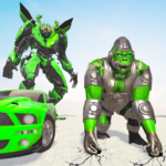 [APK] Gorilla Robot Car Games- Transform War Robot Games 3.0 (MOD Unlimited Money)
