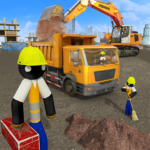 [APK] Stickman City Construction Excavator 1.5 (MOD Unlimited Money)