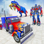 Police Truck Robot Game – Dino Robot Car Games 3d  1.3.0 (MOD Unlimited Money)
