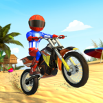 Beach Bike Stunts: Crazy Stunts and Racing Game  5.2 (MOD Unlimited Money)