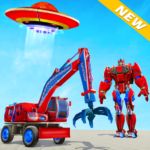 Excavator Robot Car Game – Elephant Robot Games 3d  1.2.0 (MOD Unlimited Money)