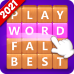 Word Fall Brain training search word puzzle game  3.1.3 (MOD Unlimited Money)