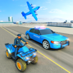 USA Police Car Transporter Games: Airplane Games 1.4 (MOD Unlimited Money)