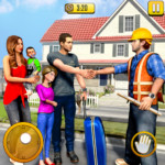 New Family House Builder Happy Family Simulator  (MOD Unlimited Money)